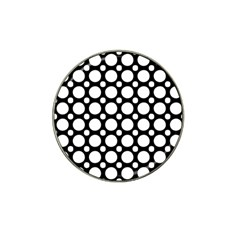 Tileable Circle Pattern Polka Dots Hat Clip Ball Marker (4 Pack)