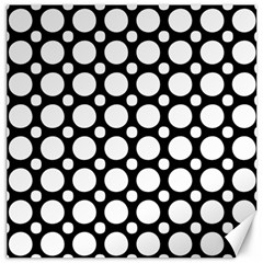 Tileable Circle Pattern Polka Dots Canvas 12  X 12