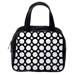Tileable Circle Pattern Polka Dots Classic Handbags (one Side)