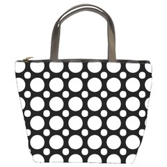 Tileable Circle Pattern Polka Dots Bucket Bags