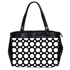 Tileable Circle Pattern Polka Dots Office Handbags (2 Sides)