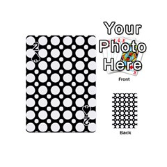 Tileable Circle Pattern Polka Dots Playing Cards 54 (mini)  by Alisyart