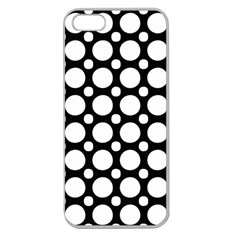 Tileable Circle Pattern Polka Dots Apple Seamless Iphone 5 Case (clear)
