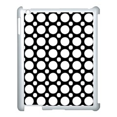 Tileable Circle Pattern Polka Dots Apple Ipad 3/4 Case (white)