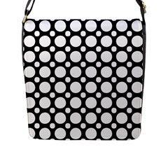 Tileable Circle Pattern Polka Dots Flap Messenger Bag (l)  by Alisyart