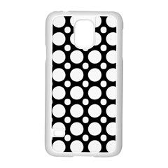 Tileable Circle Pattern Polka Dots Samsung Galaxy S5 Case (white)