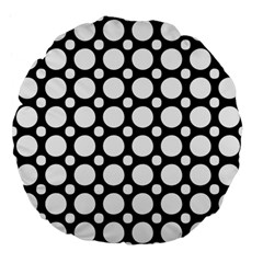 Tileable Circle Pattern Polka Dots Large 18  Premium Flano Round Cushions