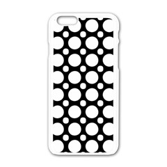 Tileable Circle Pattern Polka Dots Apple Iphone 6/6s White Enamel Case by Alisyart
