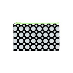 Tileable Circle Pattern Polka Dots Cosmetic Bag (xs)