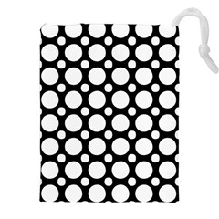 Tileable Circle Pattern Polka Dots Drawstring Pouches (xxl) by Alisyart
