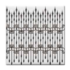 Iron Fence Grey Strong Tile Coasters