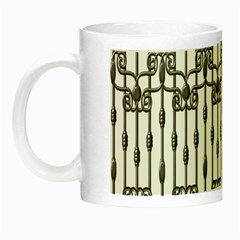 Iron Fence Grey Strong Night Luminous Mugs by Alisyart
