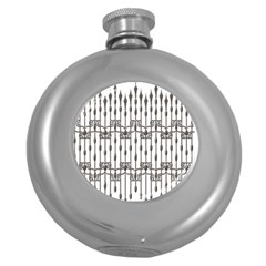 Iron Fence Grey Strong Round Hip Flask (5 Oz) by Alisyart