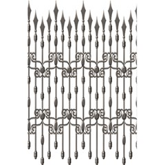 Iron Fence Grey Strong 5 5  X 8 5  Notebooks by Alisyart