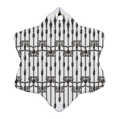 Iron Fence Grey Strong Ornament (snowflake) by Alisyart