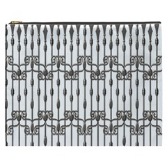 Iron Fence Grey Strong Cosmetic Bag (xxxl)