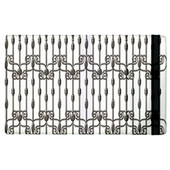 Iron Fence Grey Strong Apple Ipad 2 Flip Case by Alisyart