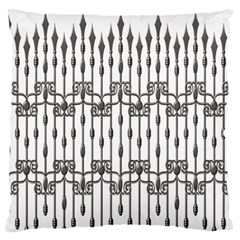Iron Fence Grey Strong Large Flano Cushion Case (two Sides) by Alisyart