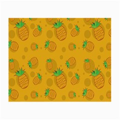 Fruit Pineapple Yellow Green Small Glasses Cloth (2 Side) by Alisyart