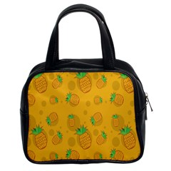 Fruit Pineapple Yellow Green Classic Handbags (2 Sides)