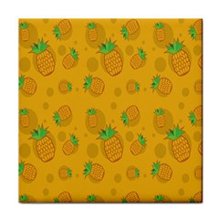 Fruit Pineapple Yellow Green Face Towel by Alisyart