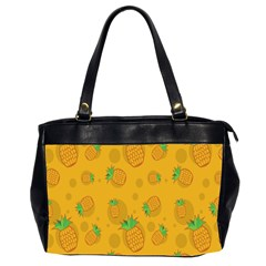 Fruit Pineapple Yellow Green Office Handbags (2 Sides)  by Alisyart