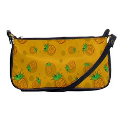 Fruit Pineapple Yellow Green Shoulder Clutch Bags