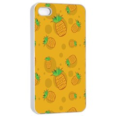 Fruit Pineapple Yellow Green Apple Iphone 4/4s Seamless Case (white)
