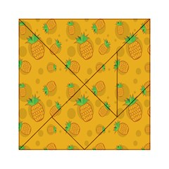 Fruit Pineapple Yellow Green Acrylic Tangram Puzzle (6  X 6 )