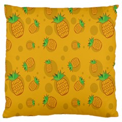 Fruit Pineapple Yellow Green Large Cushion Case (one Side) by Alisyart