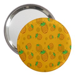 Fruit Pineapple Yellow Green 3  Handbag Mirrors