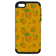 Fruit Pineapple Yellow Green Apple Iphone 5 Hardshell Case (pc+silicone) by Alisyart