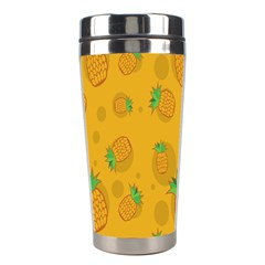 Fruit Pineapple Yellow Green Stainless Steel Travel Tumblers