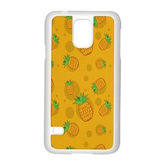 Fruit Pineapple Yellow Green Samsung Galaxy S5 Case (white)