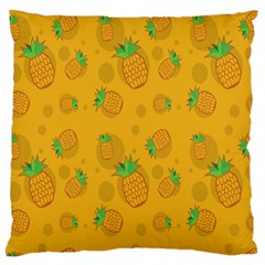 Fruit Pineapple Yellow Green Large Flano Cushion Case (one Side)