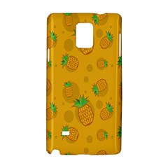 Fruit Pineapple Yellow Green Samsung Galaxy Note 4 Hardshell Case by Alisyart