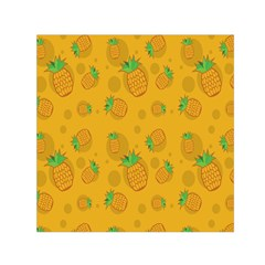 Fruit Pineapple Yellow Green Small Satin Scarf (square)