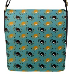 Spider Grey Orange Animals Cute Cartoons Flap Messenger Bag (s) by Alisyart