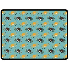 Spider Grey Orange Animals Cute Cartoons Double Sided Fleece Blanket (large)  by Alisyart
