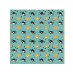 Spider Grey Orange Animals Cute Cartoons Small Satin Scarf (square)