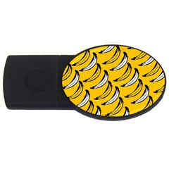 Fruit Bananas Yellow Orange White Usb Flash Drive Oval (2 Gb)