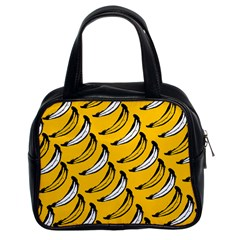 Fruit Bananas Yellow Orange White Classic Handbags (2 Sides) by Alisyart