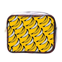 Fruit Bananas Yellow Orange White Mini Toiletries Bags