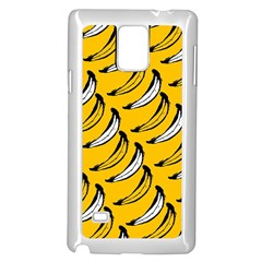 Fruit Bananas Yellow Orange White Samsung Galaxy Note 4 Case (white)