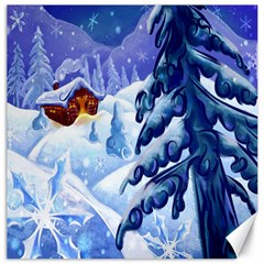 Christmas Wooden Snow Canvas 20  X 20
