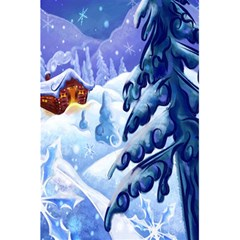 Christmas Wooden Snow 5 5  X 8 5  Notebooks