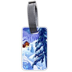 Christmas Wooden Snow Luggage Tags (one Side)
