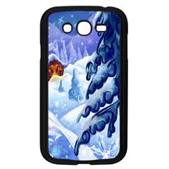 Christmas Wooden Snow Samsung Galaxy Grand Duos I9082 Case (black)