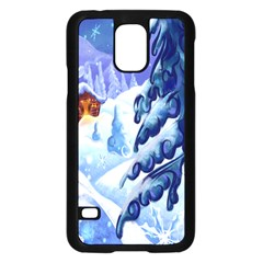 Christmas Wooden Snow Samsung Galaxy S5 Case (black) by Alisyart