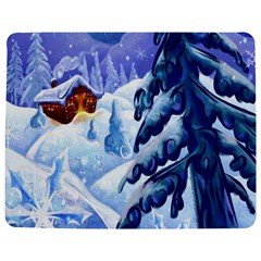 Christmas Wooden Snow Jigsaw Puzzle Photo Stand (rectangular)